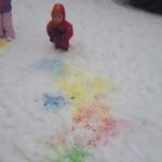 piesimas ant sniego